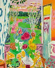 Jean-Jules-Louis CAVAILLES 1901 - 1977 FENETRE SUR LA CROISETTE Huile sur toile