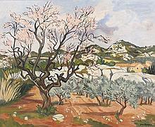 Yves BRAYER 1907 - 1990 L'AMANDIER EN FLEURS - 1978 Huile sur toile