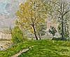 Maxime MAUFRA 1861 - 1918 AU BORD DE LA MARNE Huile sur toile, Maxime Maufra, €8,000