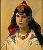 ISIDORE PILS 1815-1875 PORTRAIT DE FEMME KABYLE