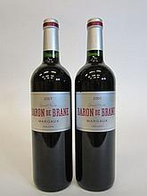 11 bouteilles BARON DE BRANE 2007 Margaux