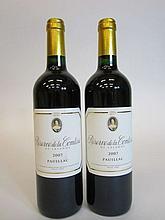 12 bouteilles RESERVE DE LA COMTESSE 2007 Pauillac