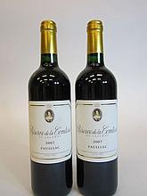9 bouteilles RESERVE DE LA COMTESSE 2007 Pauillac