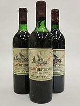 3 bouteilles CHÂTEAU BEYCHEVELLE 1970 4è GC Saint Julien (dont 1 haute épaule et 1 basse épaule