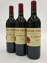 3 bouteilles CHÂTEAU FIGEAC 1999 1er GCC (B) Saint Emilion