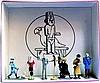 L'Oreille Cassée Tintin et Milou, Alcazar, Ridgewell, Diaz, Ramon Bada, le perroquet, Alonzo Perez