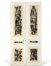 Paul-Armand GETTE (né en 1927) PORTE DOUBLE - 1963 Huile sur portes