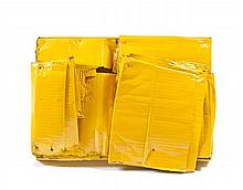 Bernar VENET (né en 1941) LAURE, SOUVENIRS MAGDALENIENS - 1964 Relief de carton ondulé, collé, cloué et peint sur châssis
