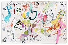 Jean TINGUELY (1925-1991) SANS TITRE - 1987 Technique mixte et collages sur papier