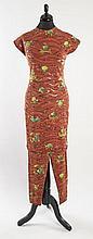 HERMES Paris made in france Lot comprenant une paire de legging ainsi qu'une tunique en polyamide et lycra à décor de mosaique mar...