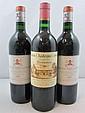 3 bouteilles 1 bt : VIEUX CHÂTEAU CERTAN 1980 Pomerol