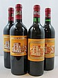 5 bouteilles 3 bts : CHÂTEAU DUCRU BEAUCAILLOU 2004 2è GC Saint Julien (dont 1 étiquette léger déchirée)