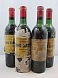 6 bouteilles 3 bts : CHÂTEAU BRANE CANTENAC 1966 2è GC Margaux (légèrement bas, étiquettes abîmées par l'humidité)