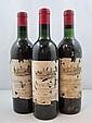 3 bouteilles CHÂTEAU AUSONE 1961 1er GCC (A) Saint Emilion  (Légèrement bas, étiquettes abîmées)