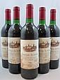 9 bouteilles CHÂTEAU AUSONE 1986 1er GCC (A) Saint Emilion  (étiquettes tachées) Caisse bois d'origine
