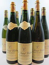 12 bouteilles  2 bts :  ALSACE - TOKAY PINOT GRIS  1991 Clos Saint Urbain. Rangen de Thann. Domaine Zind Umbrecht  (fanées) 1 bt :...