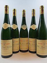 5 bouteilles ALSACE - TOKAY PINOT GRIS 1988 VT Clos Saint Urbain