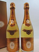2 bouteilles CHAMPAGNE CRISTAL ROEDERER 1999 Etui d'origine