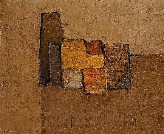 Sergio de CASTRO (né en 1922) NATURE MORTE, 1961 Huile sur toile