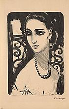 ¤ Kees VAN DONGEN 1877 - 1968 LE COLLIER DE PERLES - 1924