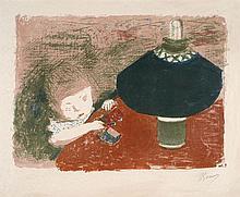 Pierre BONNARD 1867 - 1947 ENFANT A LA LAMPE - vers 1897