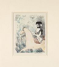 Marie LAURENCIN 1885 - 1956 LA CAVALIERE - 1926