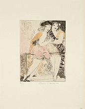 Marie LAURENCIN 1885 - 1956 JEUNES FILLES SUR UN BALCON - 1928