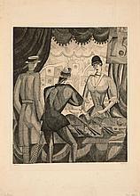 Jean-Emile LABOUREUR 1877-1943 LE TIR FORAIN - 1921