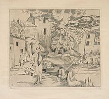 Jean-Emile LABOUREUR 1877 - 1943 LA PECHE A LA LIGNE - 1927/28