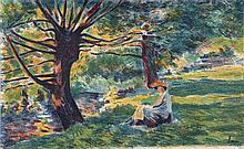 Maximilien LUCE 1858 - 1941 ENVIRON DE VERNON - 1897