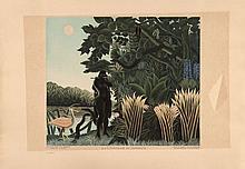 d'après Henri, le Douanier ROUSSEAU 1844 - 1910 LA CHARMEUSE DE SERPENTS - 2 épreuves
