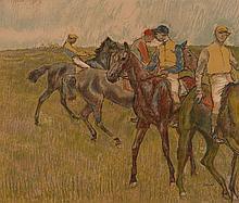 d'après Edgar Degas  AVANT LA COURSE - 1910