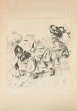 Pierre-Auguste RENOIR 1841 - 1919 ENFANTS JOUANT A LA BALLE - 1900