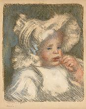 Pierre-Auguste RENOIR 1841 - 1919 L'ENFANT AU BISCUIT - 1899