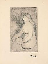 Pierre-Auguste RENOIR 1841 - 1919 BAIGNEUSE ASSISE, 1ère planche - circa 1905
