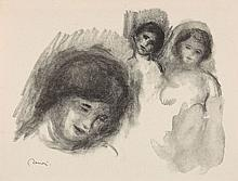 Pierre-Auguste RENOIR 1841 - 1919 ENSEMBLE DE 5 LITHOGRAPHIES