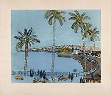 Raoul DUFY 1877 - 1953 PROMENADE DES ANGLAIS - LA BAIE DES ANGES - 1938