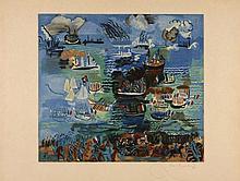 d'après Raoul DUFY  FETE NAUTIQUE - 1926/27