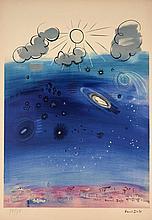 d'après Raoul DUFY  LE CIEL DE PARIS - circa 1950