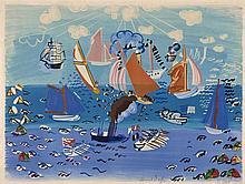 Raoul DUFY 1877 - 1953 AU PORT- circa 1935