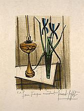 Bernard BUFFET 1928 - 1999 NATURE MORTE AUX IRIS - 1979