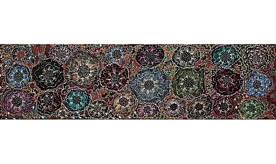 ¤Napangardi EUNICE (Warlpiri) (Circa 1940 - 2005) BUSH BANANA DREAMING, 2000 Acrylic on belgian linen