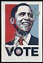 Shepard FAIREY (OBEY GIANT) (né en 1970) Vote, 2008