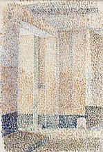 Louis HAYET 1864 - 1940 LES PORTES - Circa 1889 Aquarelle sur calicot