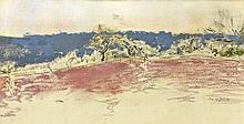 Ker-Xavier ROUSSEL 1867 - 1944 PAYSAGE DE PRINTEMPS - 1933 Pastel sur papier