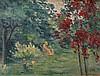 Maximilien LUCE 1858 - 1941 LE ROSIER ROUGE A AUVERS - 1932 Huile sur toile