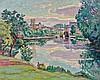 Armand GUILLAUMIN 1841 - 1927 POITIERS, JARDIN LE SOIR - 1910 Huile sur toile