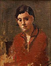 André DERAIN 1880 - 1954 PORTRAIT DE FEMME EN BUSTE - Circa 1932-1933 Huile sur toile