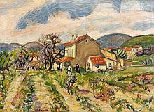 Charles CAMOIN 1879 - 1965 VIEILLE FERME A SAINT-TROPEZ - 1937 Huile sur toile