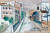 Maurice UTRILLO 1883 - 1955 RUE DE CRIMEE - 1920 Gouache sur carton